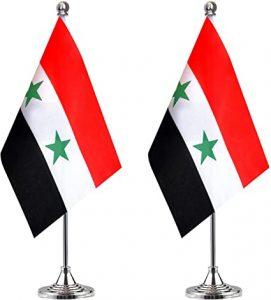 پرچم رومیزی سوریه