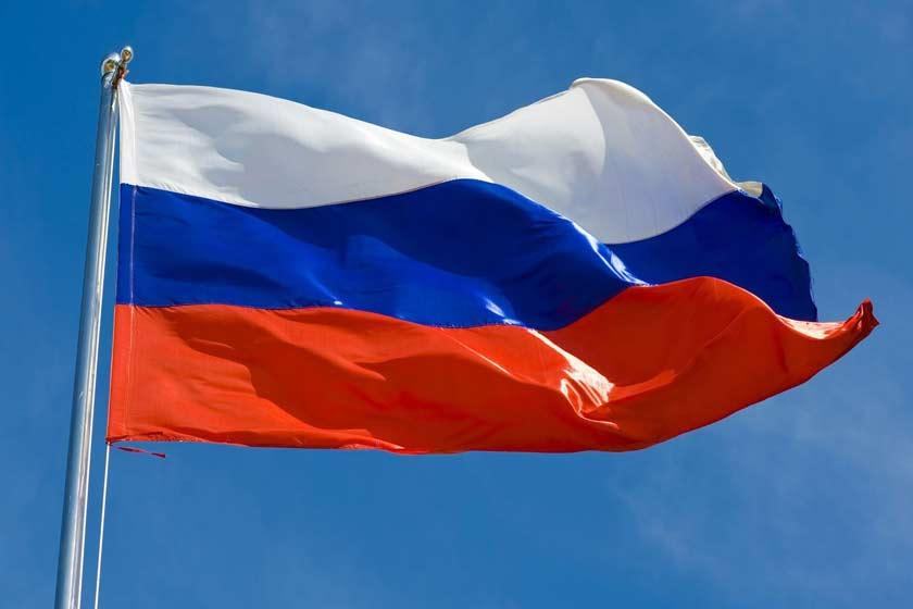 پرچم تشریفات و رومیزی روسیه